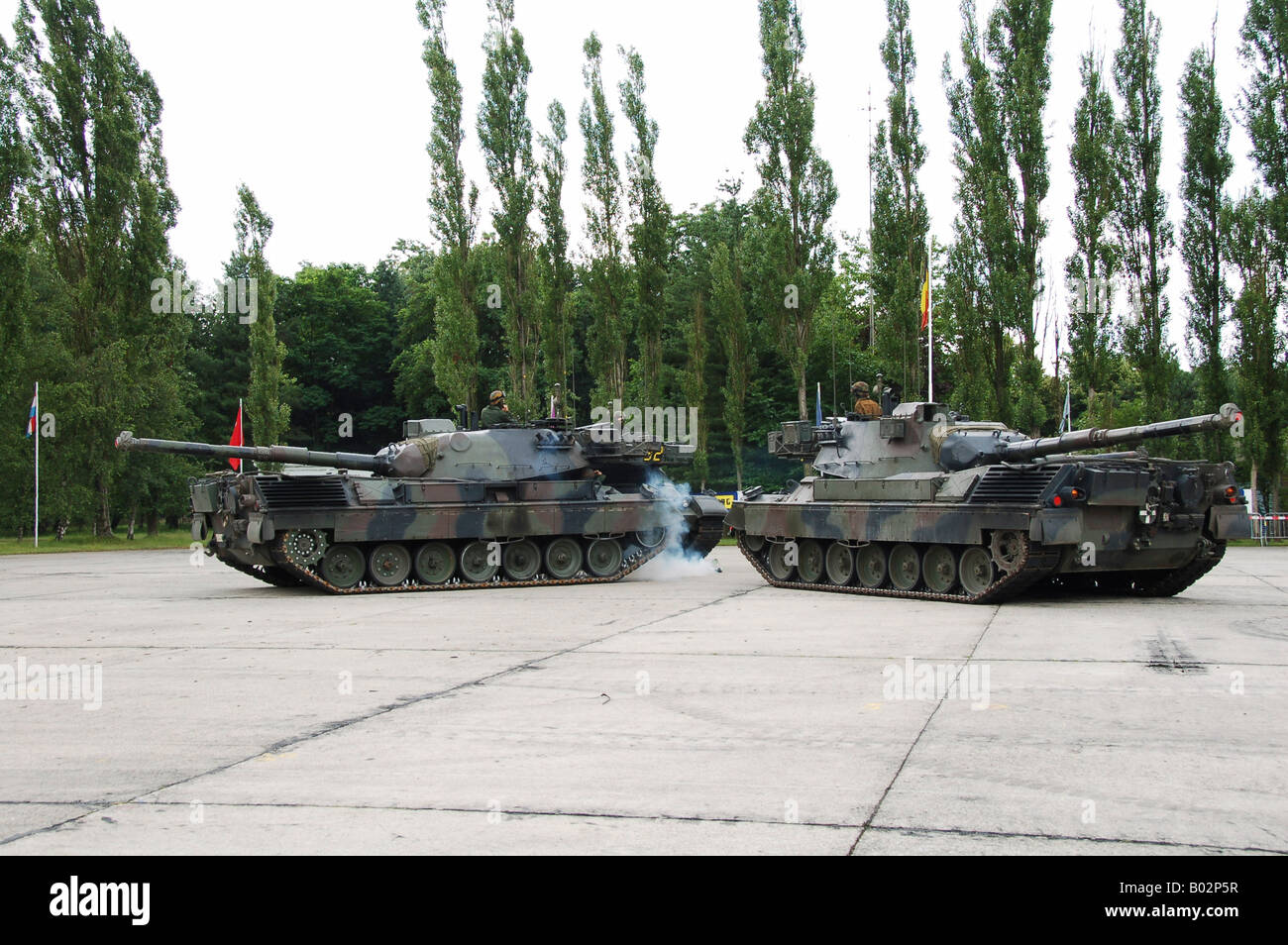 The Leopard 1A5 of the Belgian Army in action. - Stock Image