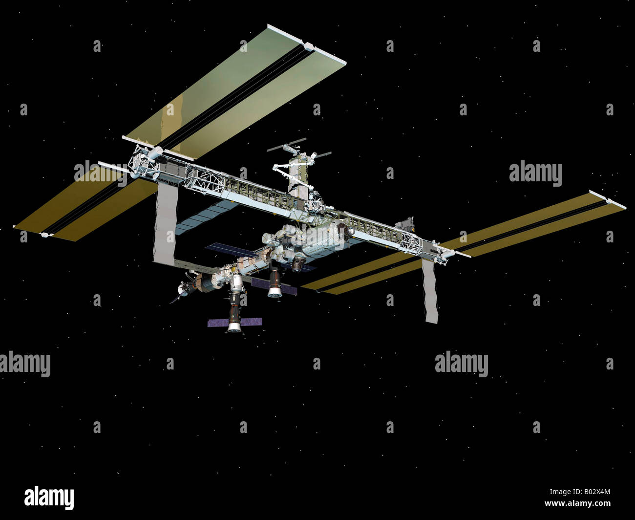 Computer generated image of the International Space Station. - Stock Image