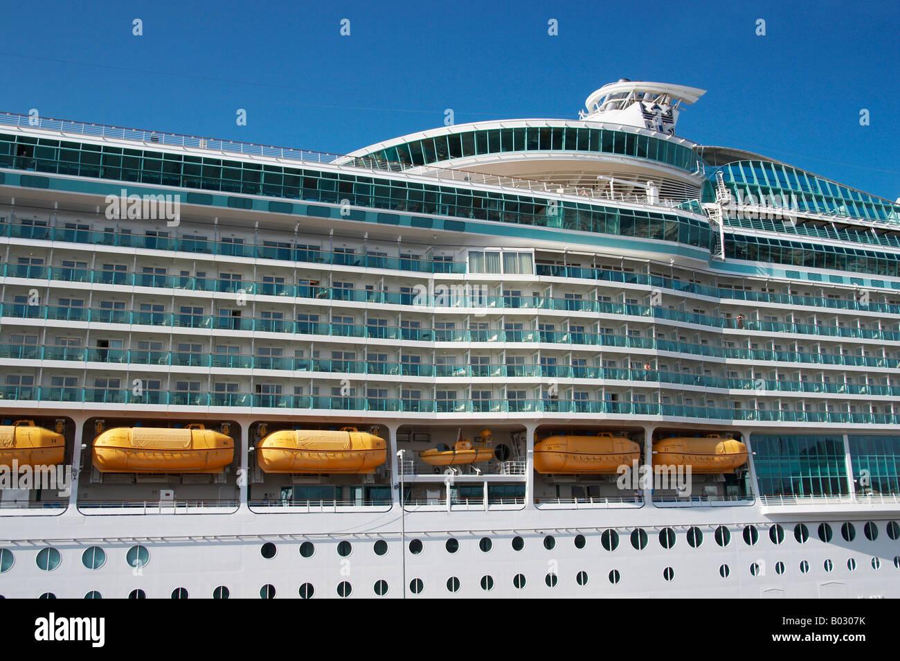 Cruise Ship 'Navigator Of The Seas', Visiting Las Palmas, Gran Canaria. - Stock Image