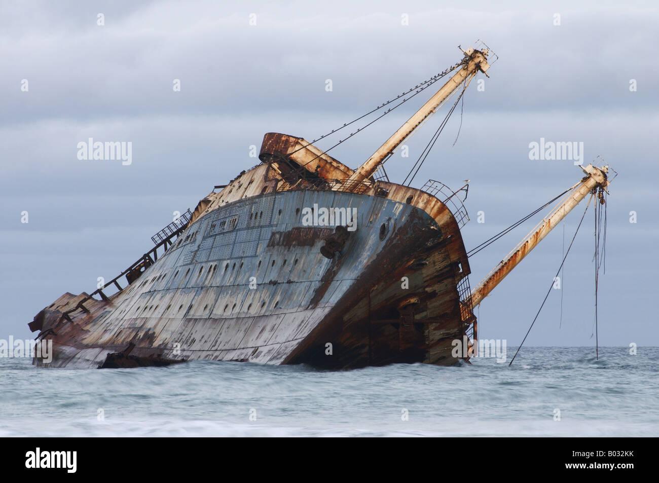 Shipwreck American Star, Fuerteventura - Stock Image