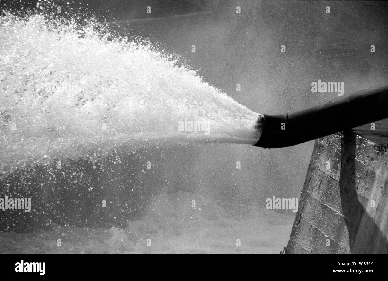 Water Pipe Black and White Stock Photos & Images - Alamy