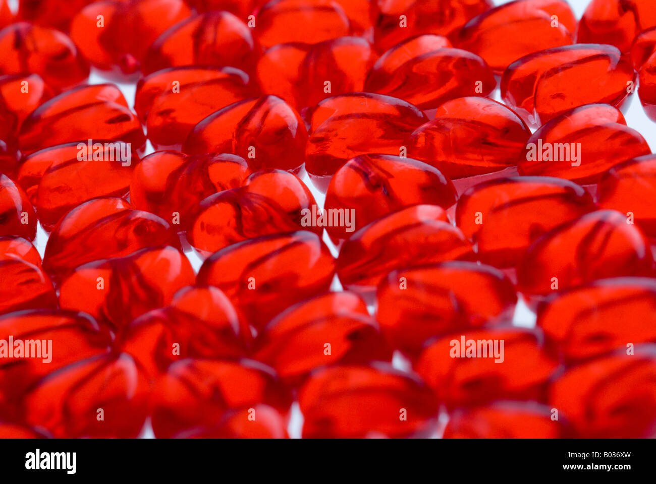 Hearts background - shallow depth of field. Stock Photo