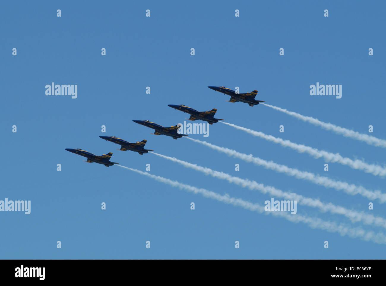 Dayton Ohio airshow blue angles - Stock Image