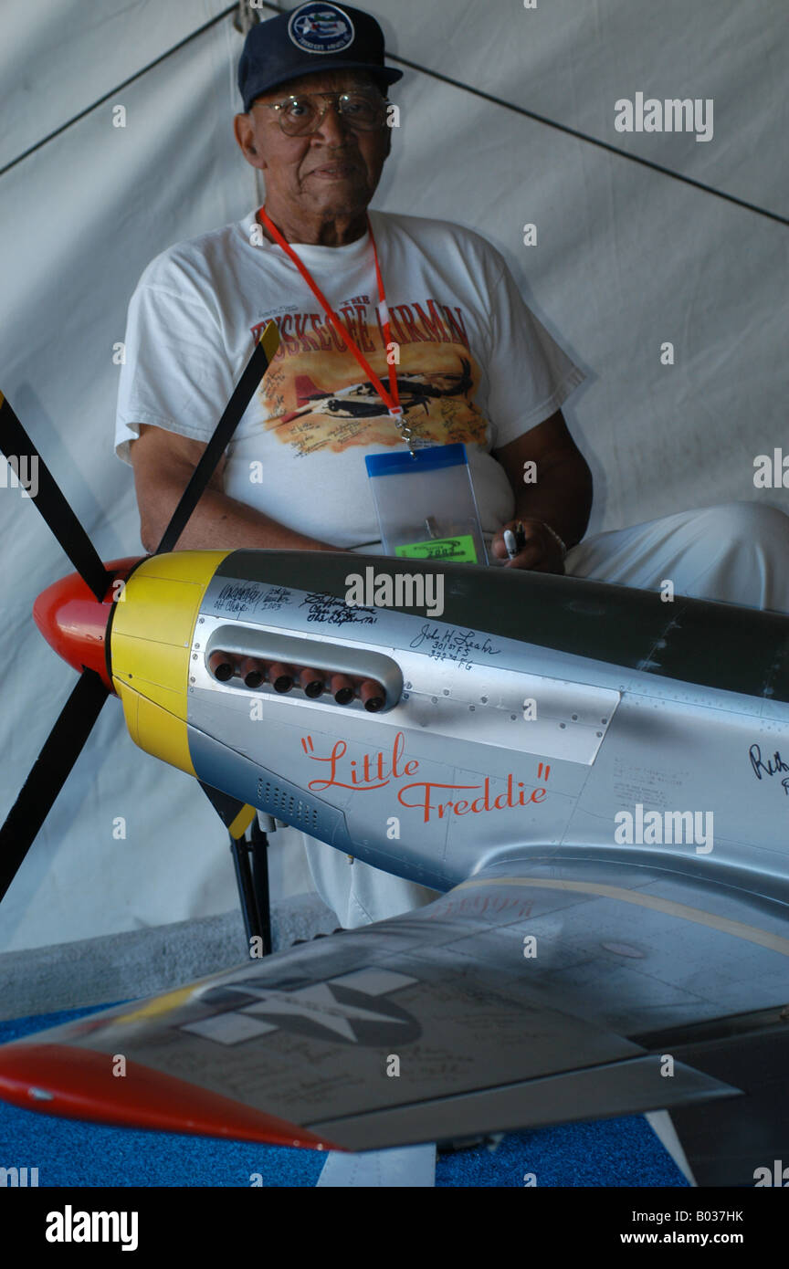 Dayton Ohio air show Tuskegee airman - Stock Image
