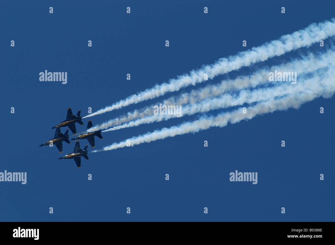Dayton Ohio air show blue angles aircraft airplanes jets navy show - Stock Image