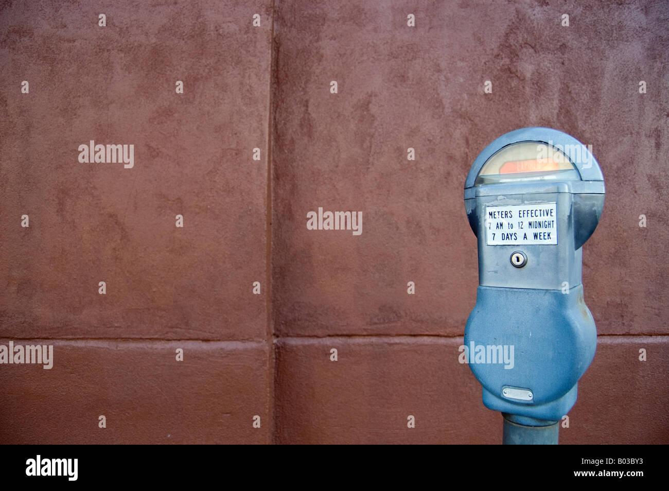 Parking meter in downtown Dallas Texas - Stock Image