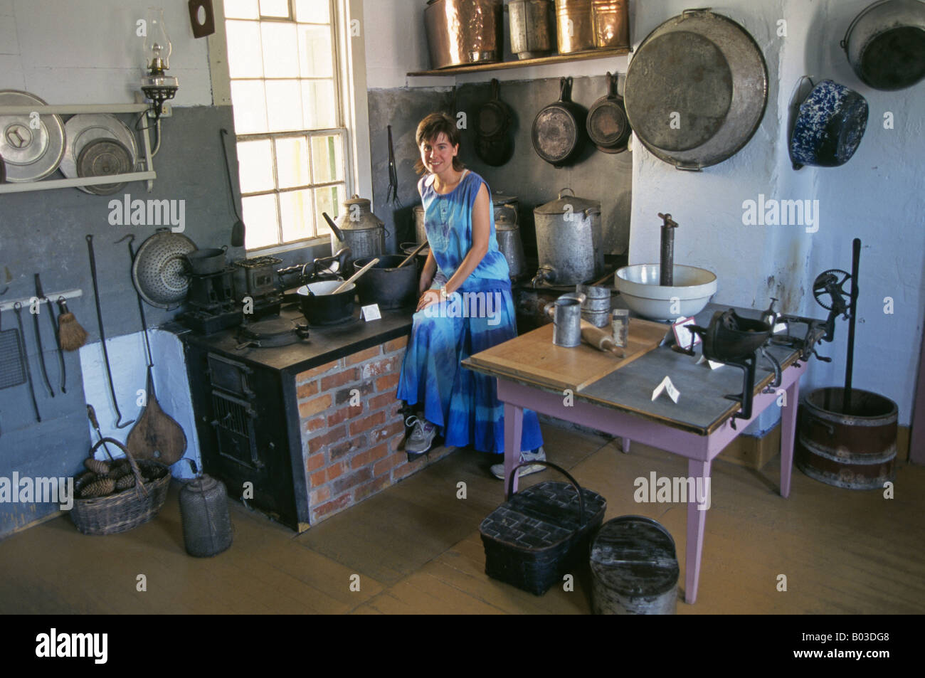 A traditional farm kitchen in a local museum in the Amana Colonies ...