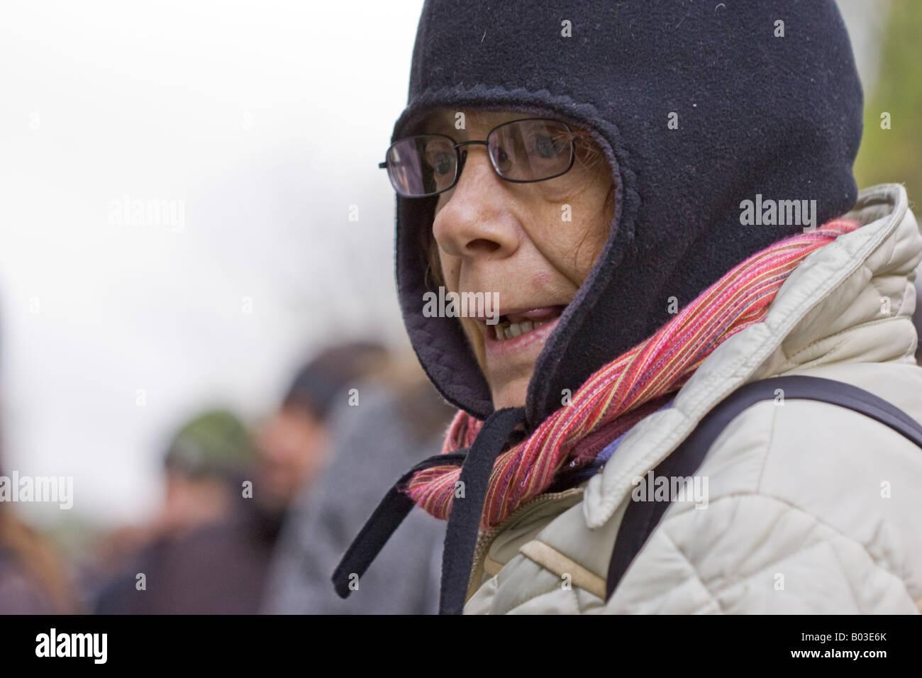 Woman Close-up, London - Stock Image