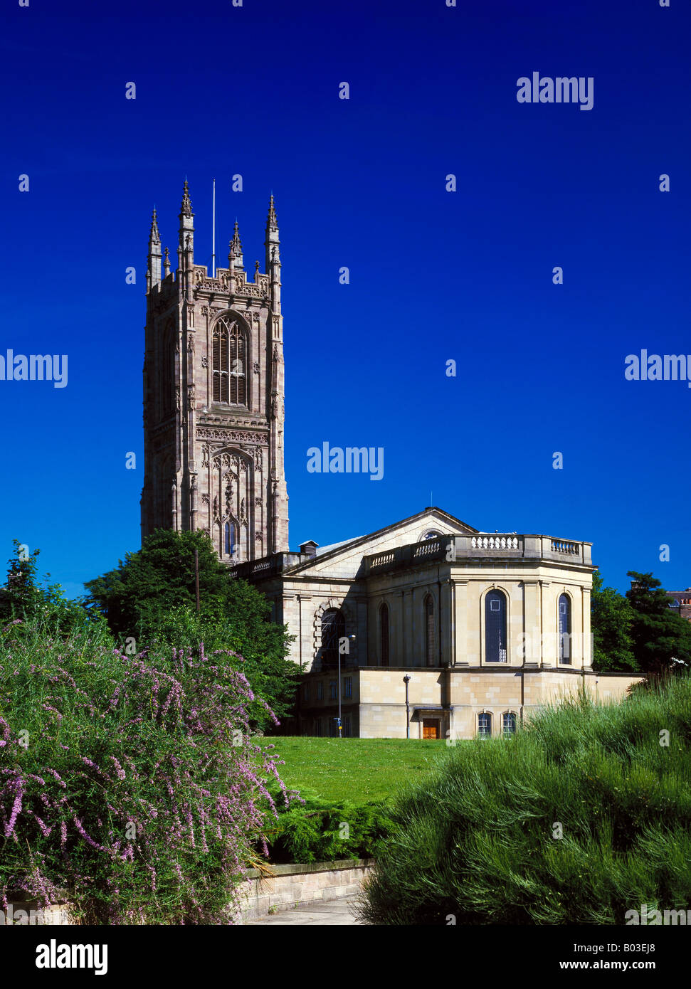 The Cathedral Church of All Saints Derby Derbyshire England United Kingdom - Stock Image