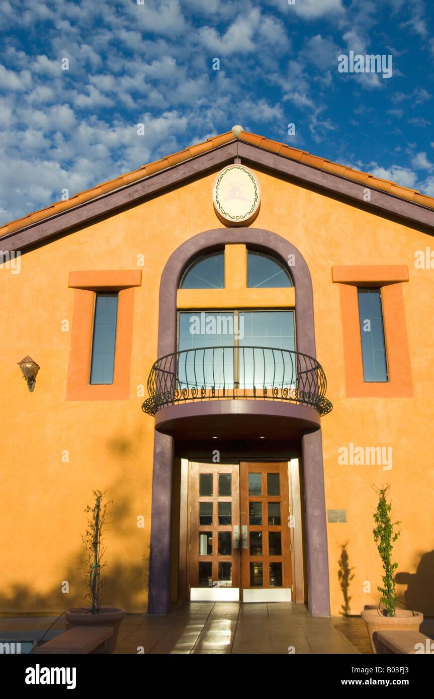 Modern orange house tucson arizona usa