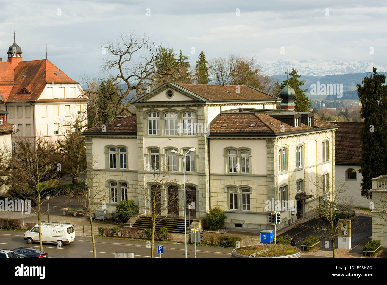 Building in Wil, Switzerland - Stock Image