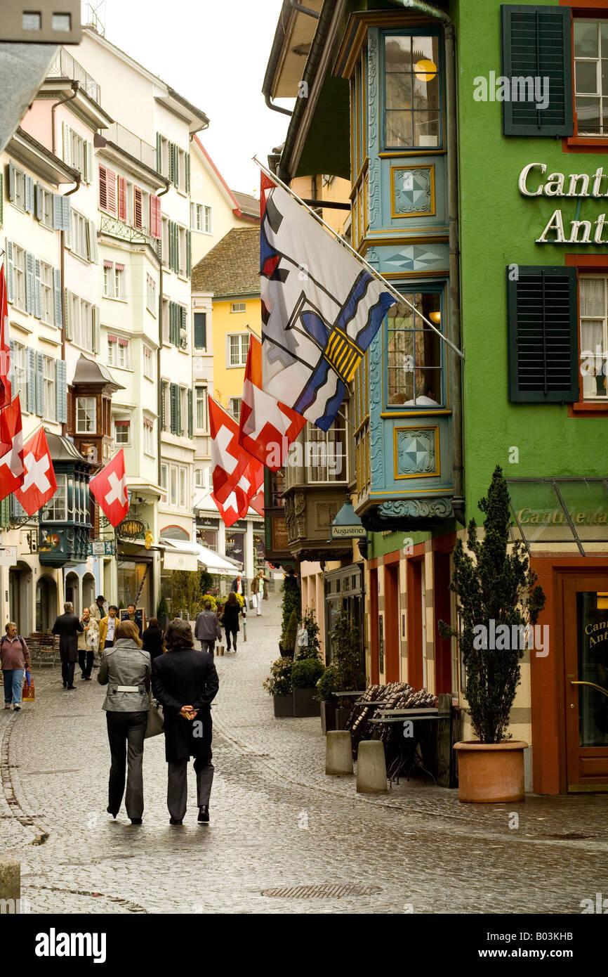 streetscene in Zurich - Stock Image