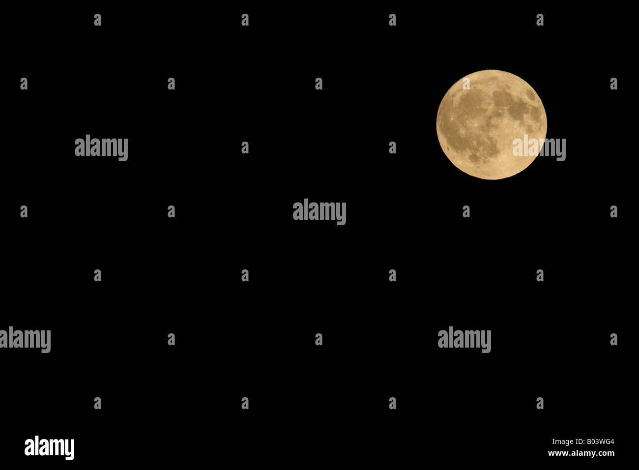 full moon vollmond ticino tessin schweiz switzerland europe europa - Stock Image