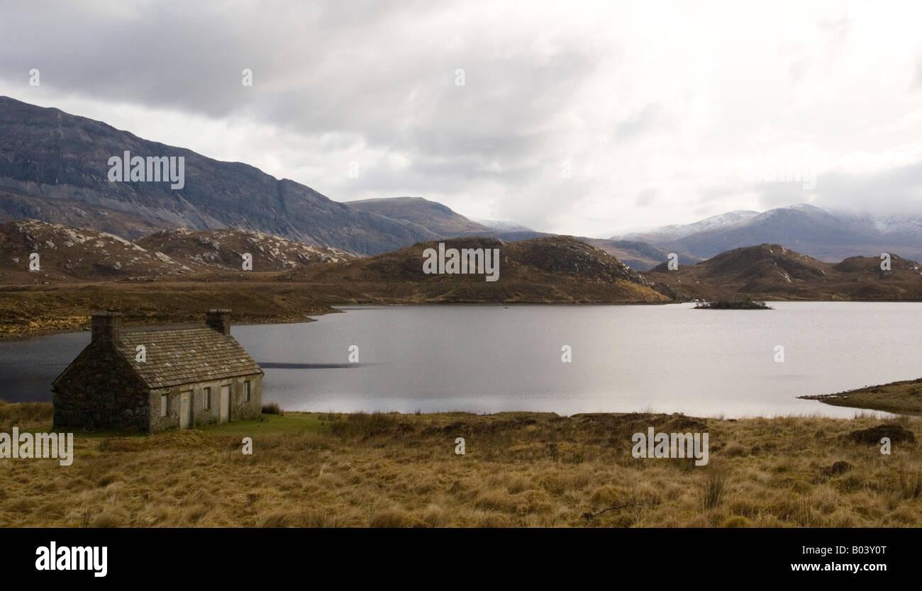 Loch Stack Sutherland Scotland UK - Stock Image