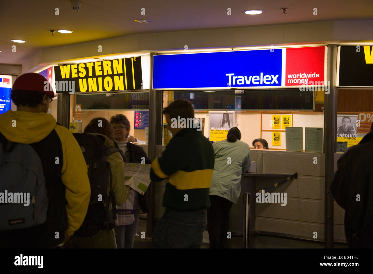 Travelex bureau de change at bruxelles midi station brussels