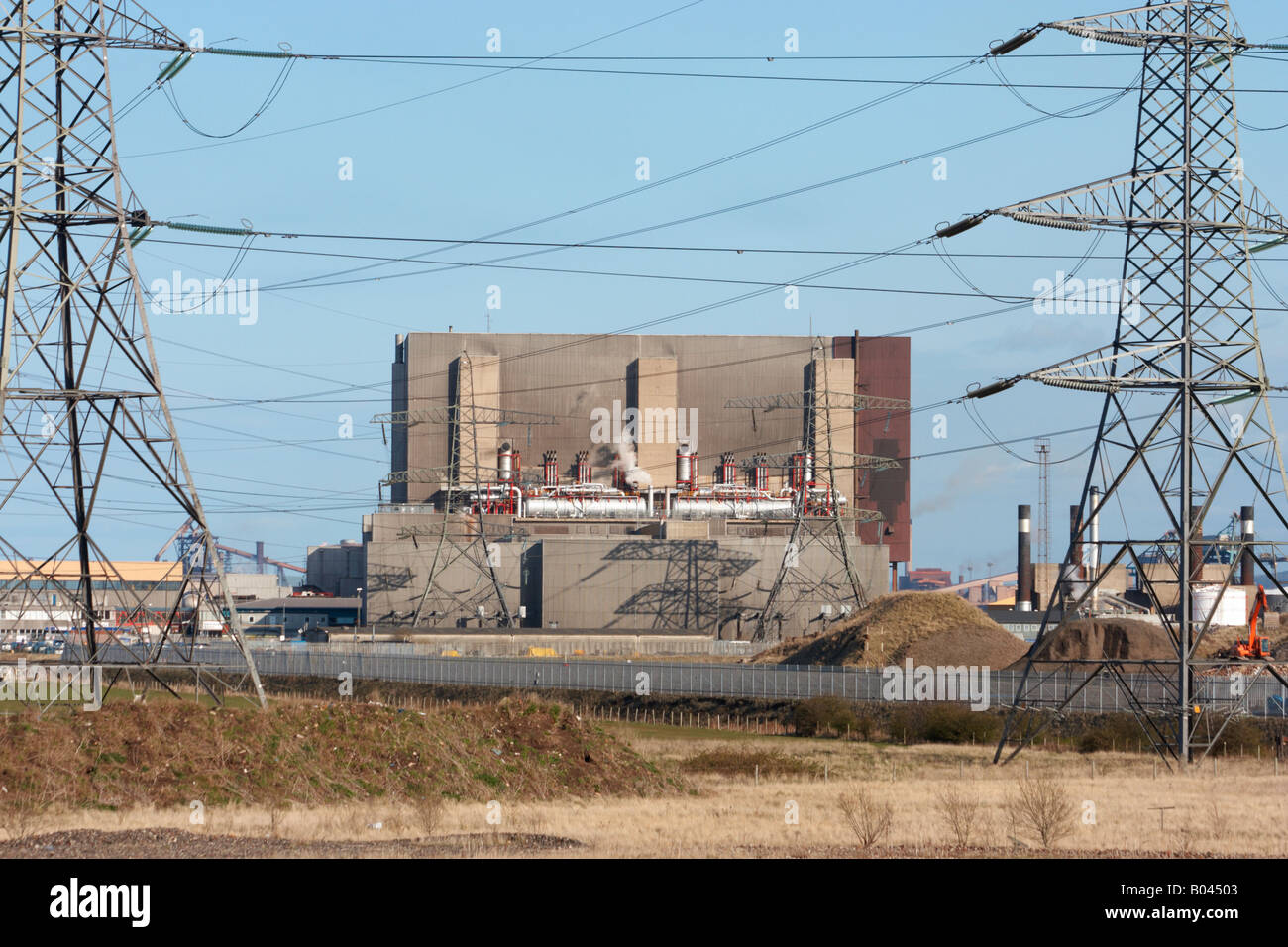 Hartlepool advanced gas-cooled reactor nuclear power station near Seaton Carew in the north east of England, UK, - Stock Image