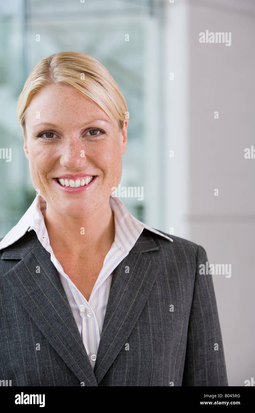 Smiling businesswoman - Stock Image