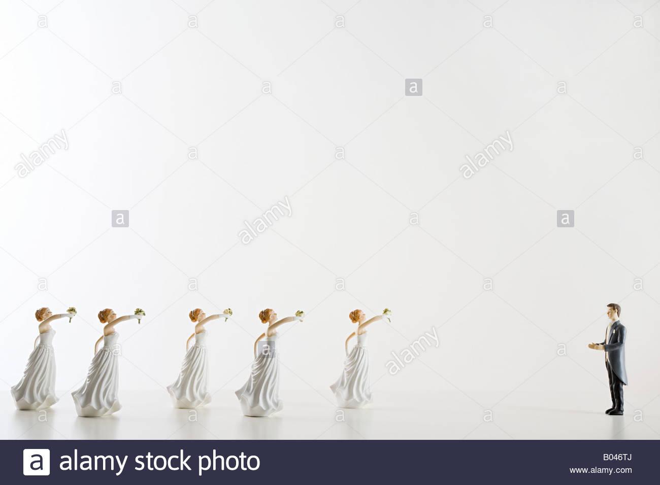 Bridegrrom and brides - Stock Image