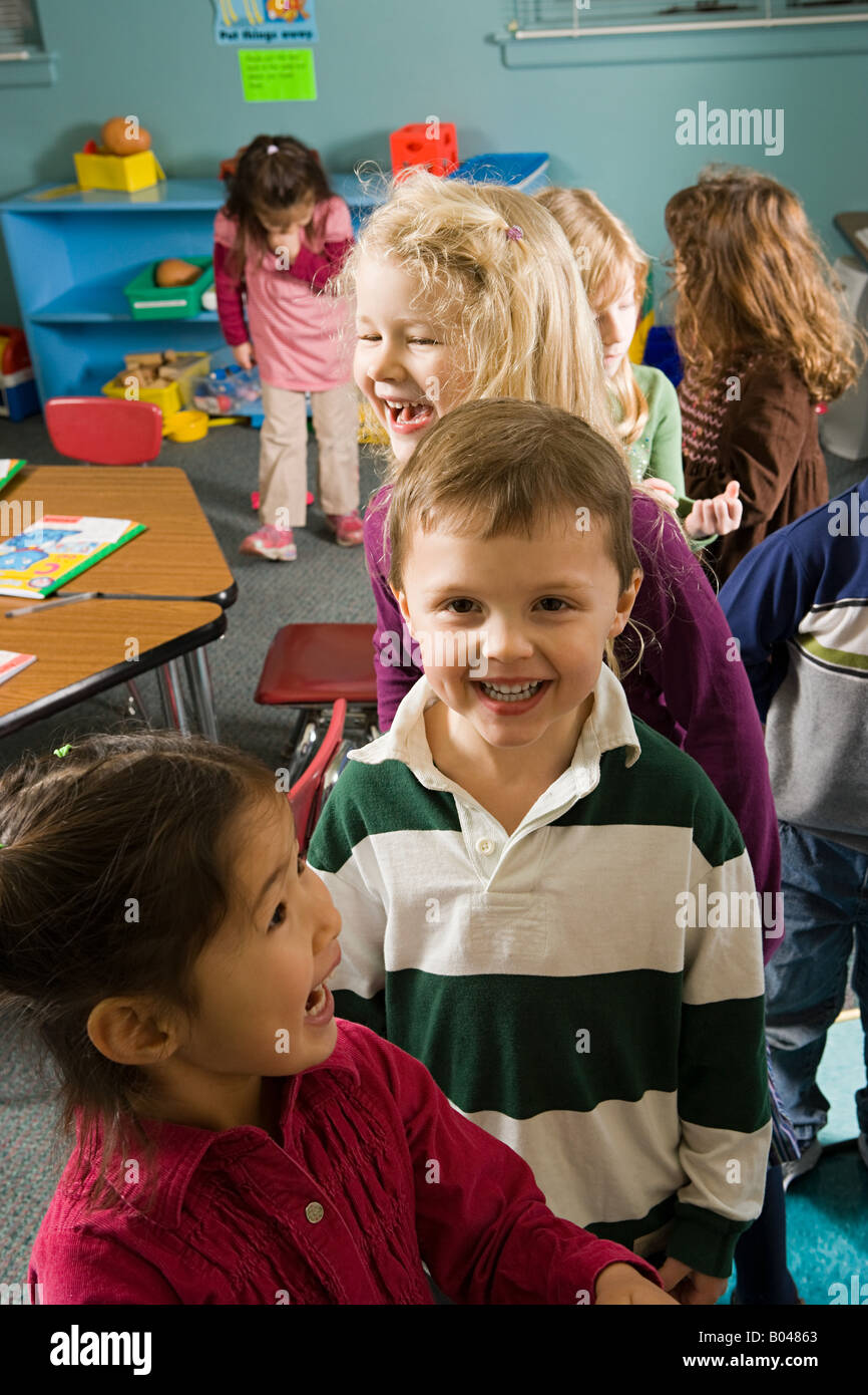 Children in a classroom Stock Photo