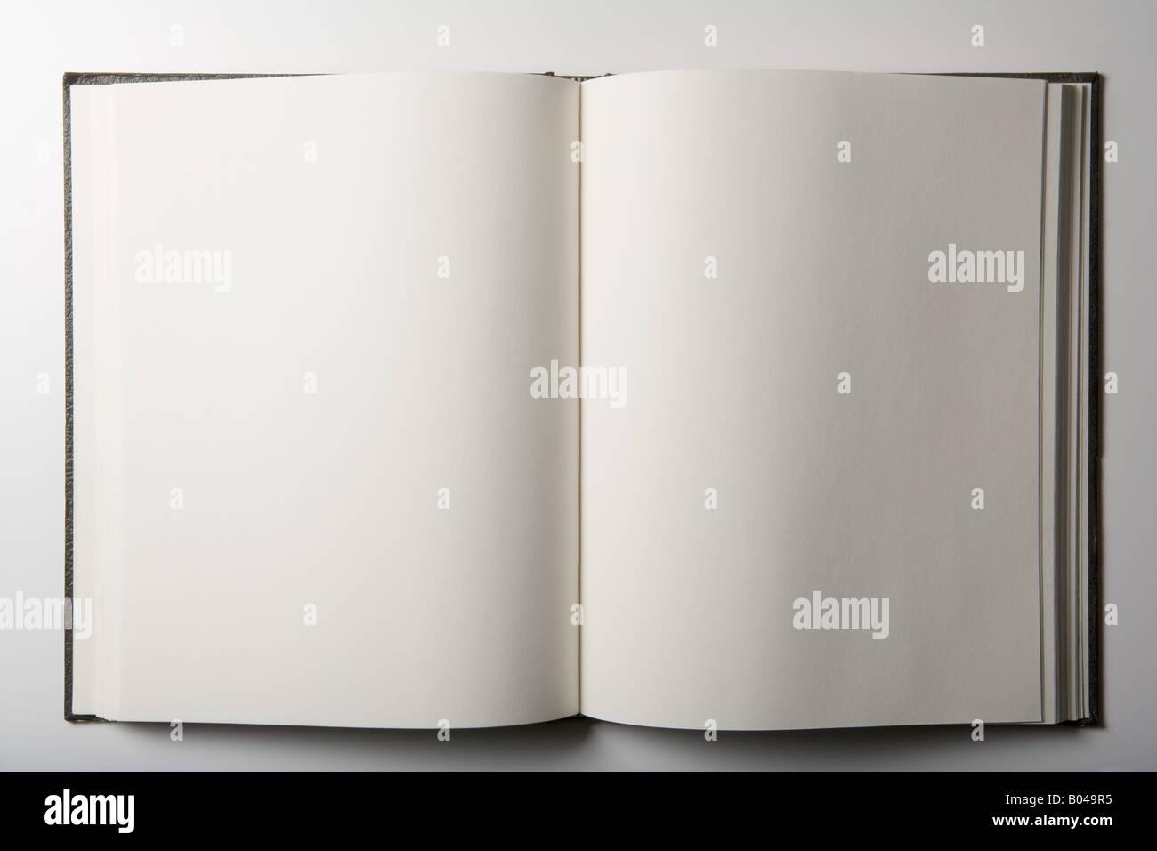 Blank book - Stock Image