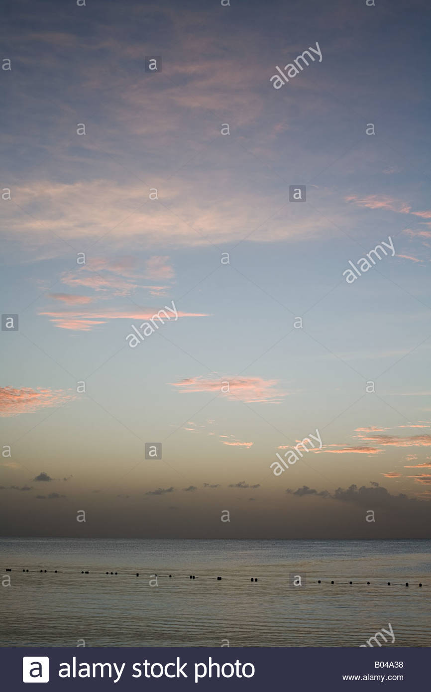 The ocean at sunset - Stock Image
