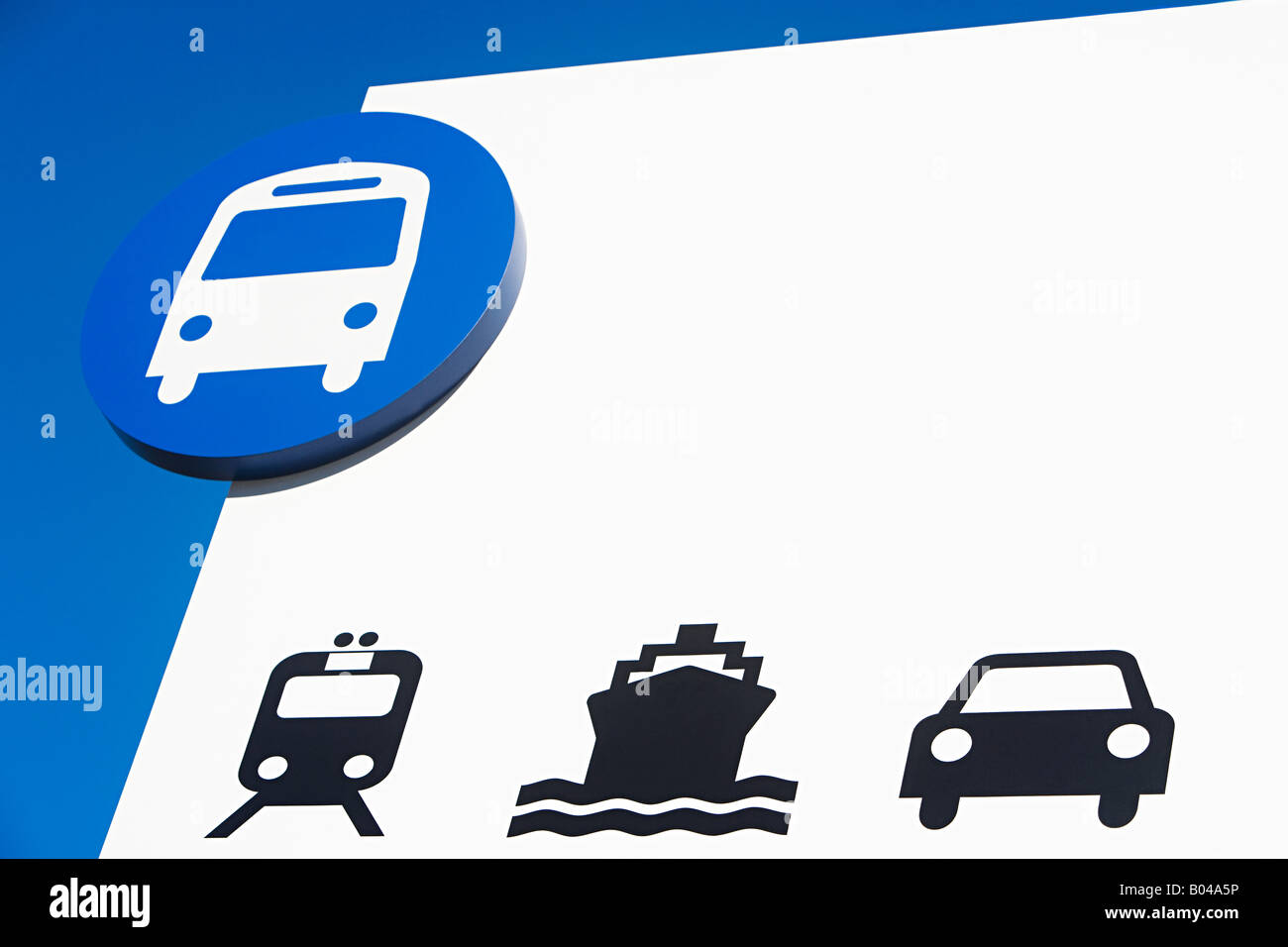 Transport sign - Stock Image