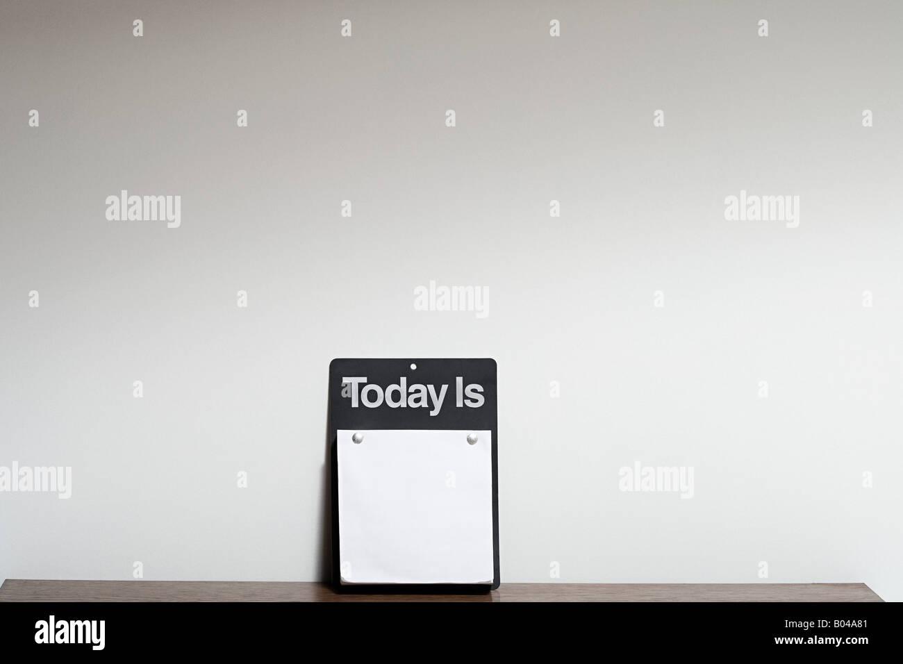 Blank calendar - Stock Image