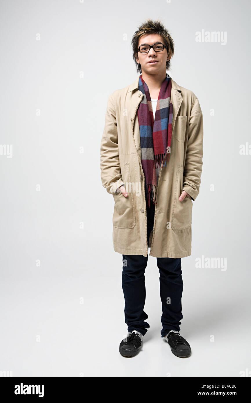 Stylish young japanese man - Stock Image
