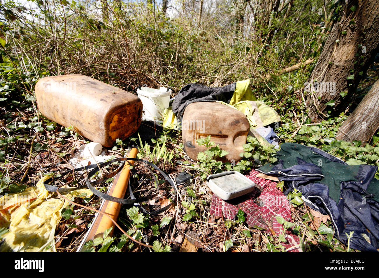 Fly Tipping - Stock Image