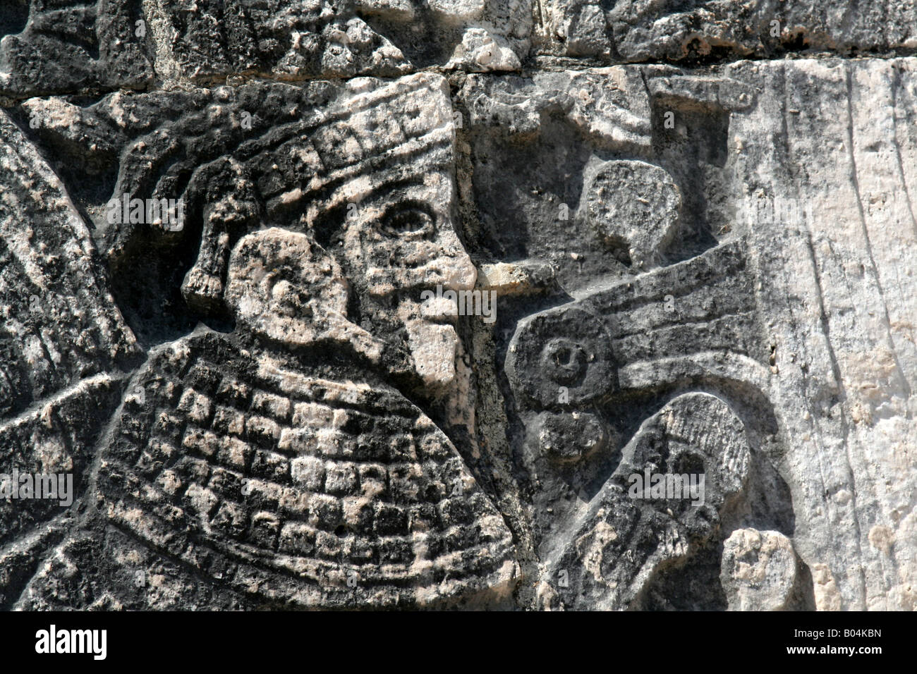 Warrior Mural Closeup - Stock Image