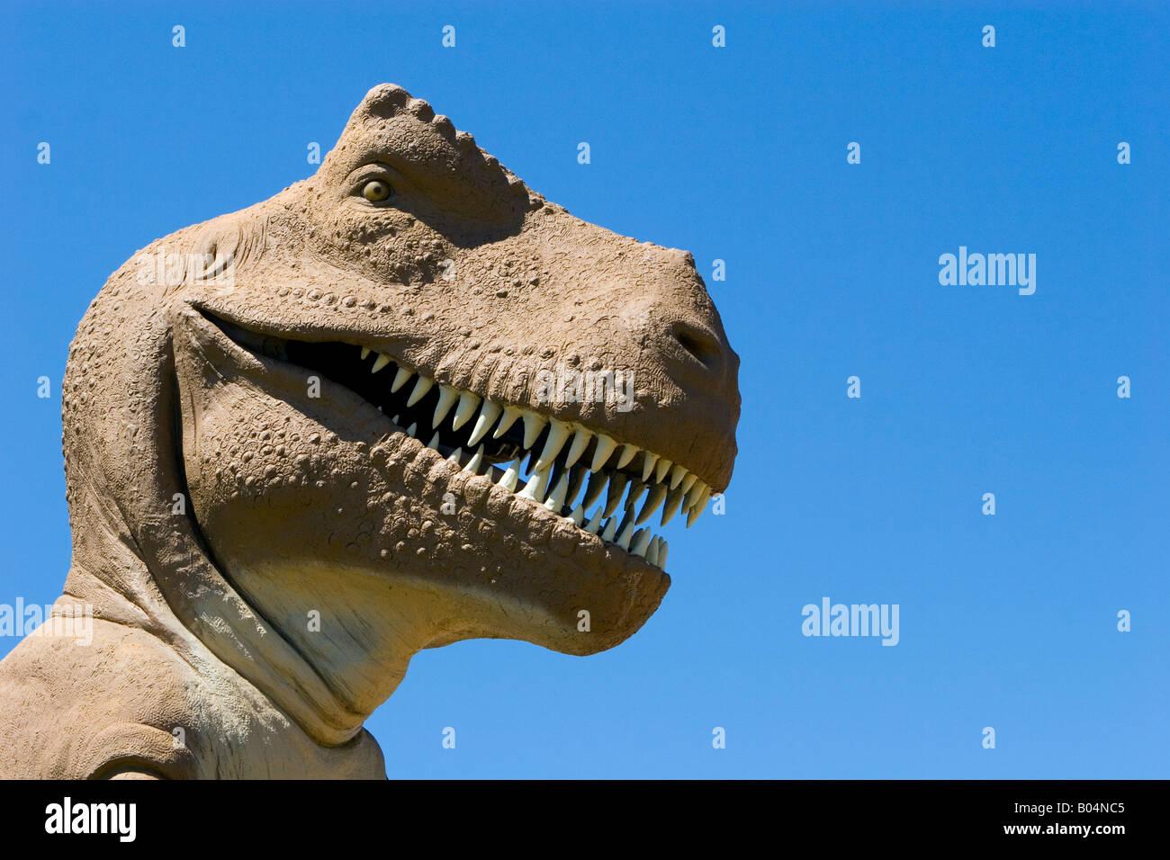 Lifesize Tyrannosaurus Rex at Dinosaur Valley State Park - Stock Image