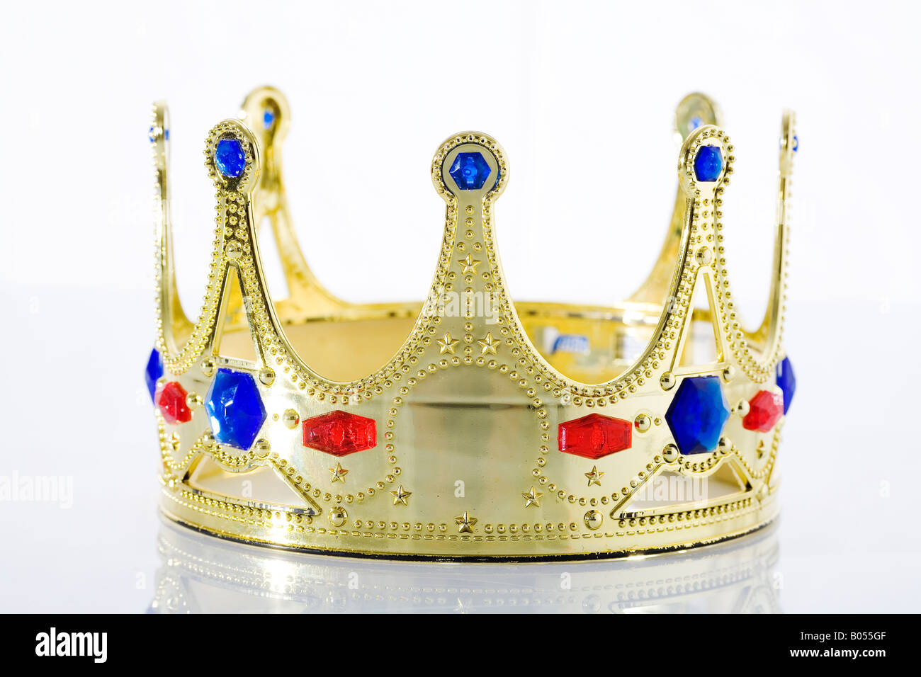 Crown with jewels - Stock Image