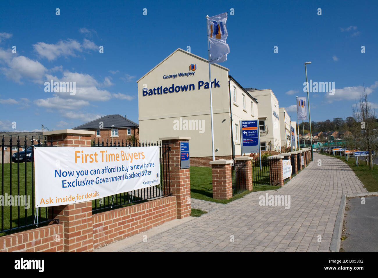 New first time buyers Wimpey properties Battledown Park Cheltenham UK - Stock Image