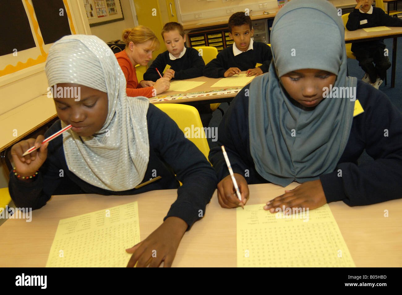 Starting Point school for children from refugee and migrant families to integrate into mainstream education, Bolton - Stock Image