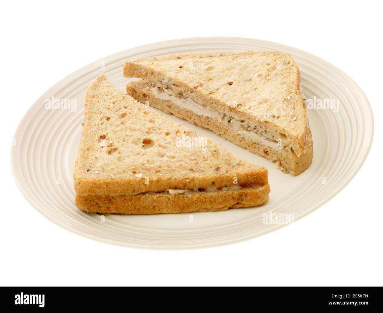 Roast Chicken And Stuffing Sandwich - Stock Image