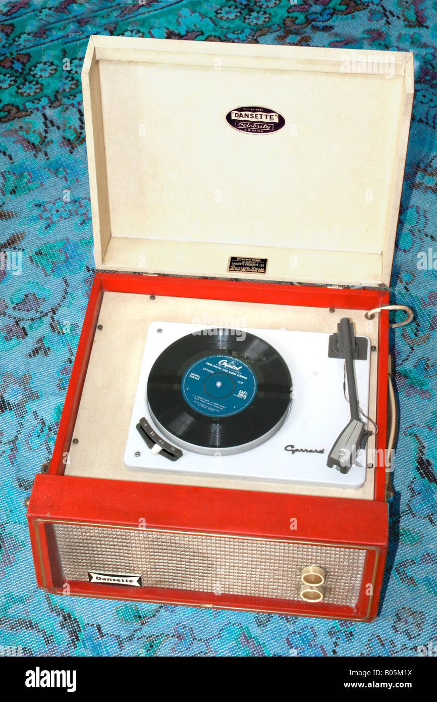 Dansette record player - Stock Image