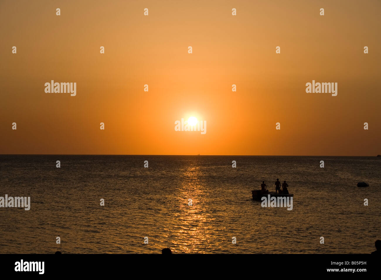 Sunset at Cafe del Mar (Ibiza) - Stock Image