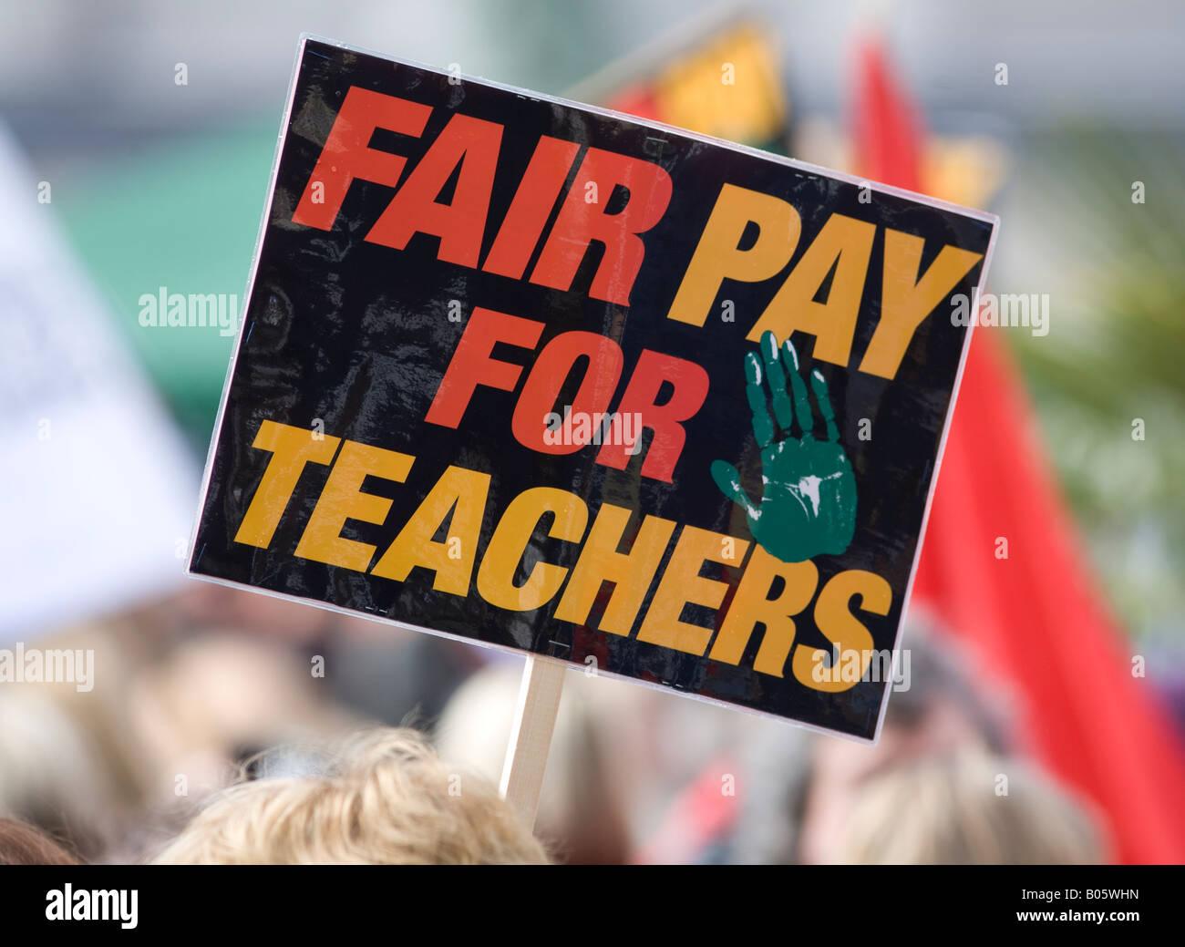 National Union of Teachers strike Birmingham England UK - Stock Image