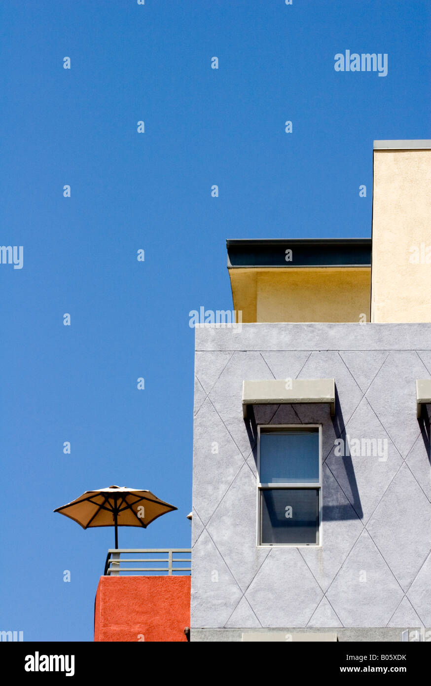 Attrayant Patio Umbrella On Balcony Of Condominium In Little Italy San ...