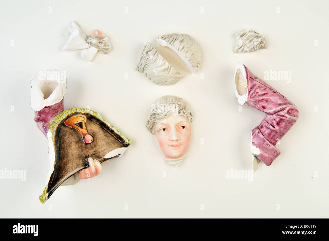 Parts of porcelain doll - Stock Image