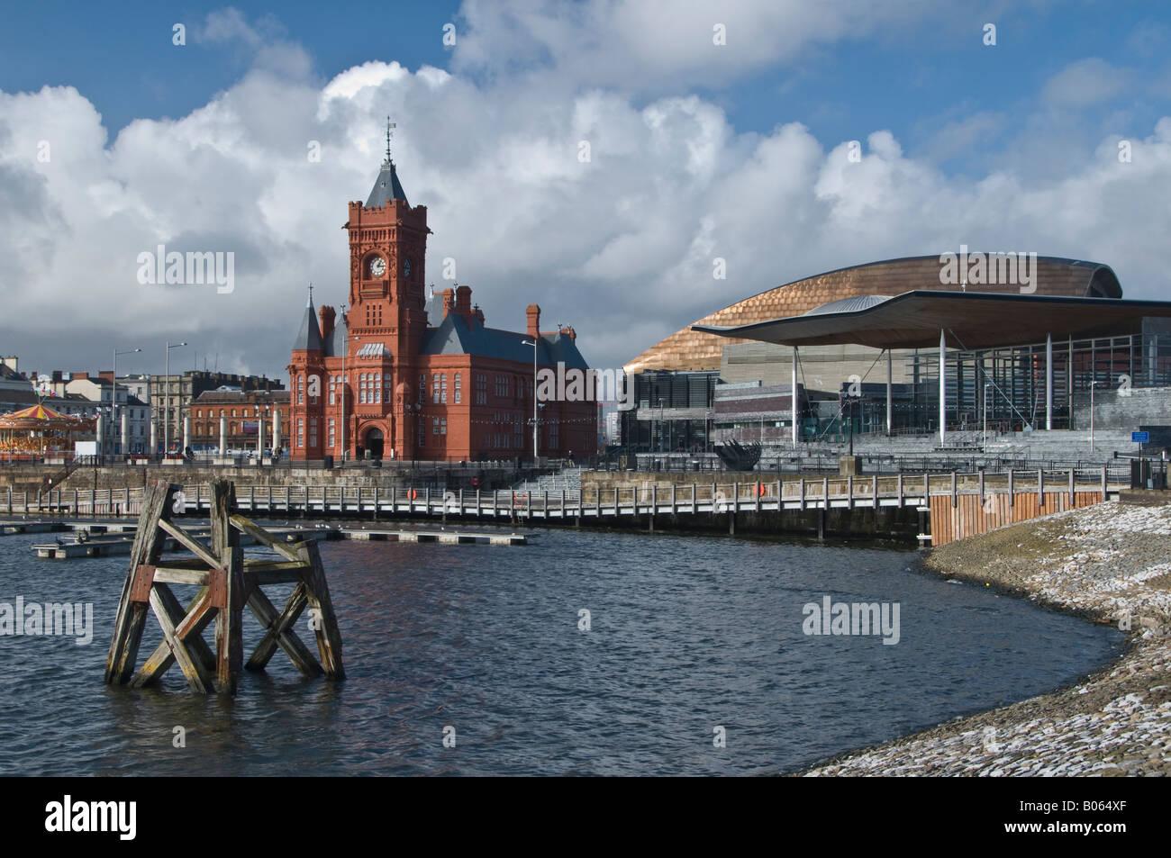 Cardiff Bay waterfront. Stock Photo