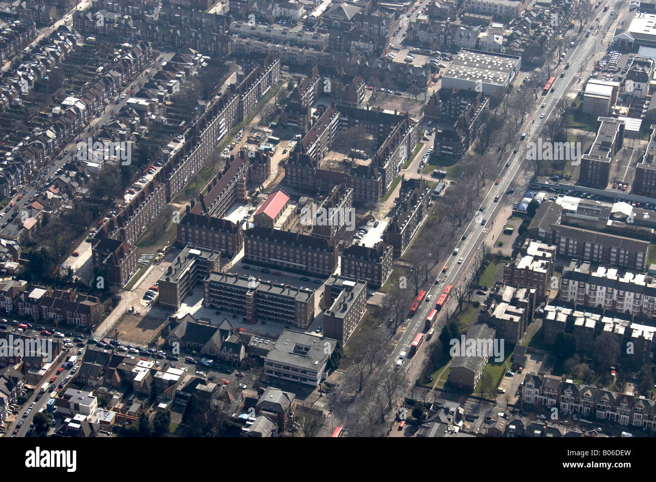 Aerial view of London England UK High level oblique - Stock Image
