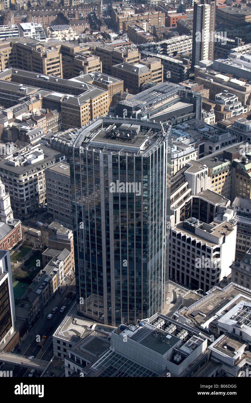 Aerial View East Of 99 Bishopsgate City London EC2 EC3 England UK High Level Oblique