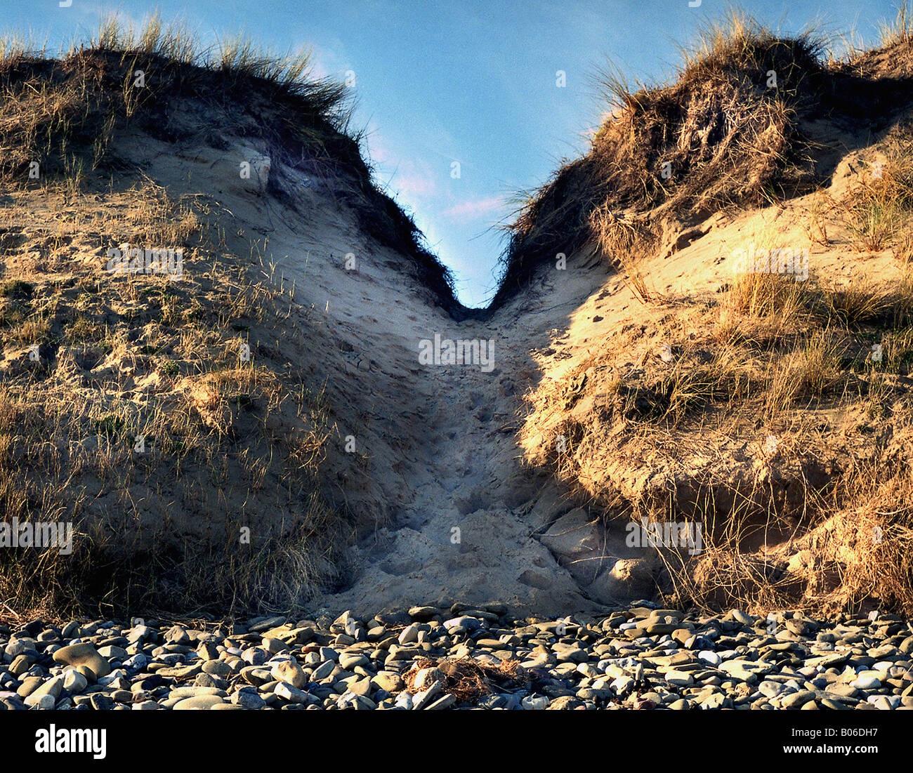 This is a full colour image of the sand dunes at whiteford point on the north west end of the gower peninsula. - Stock Image