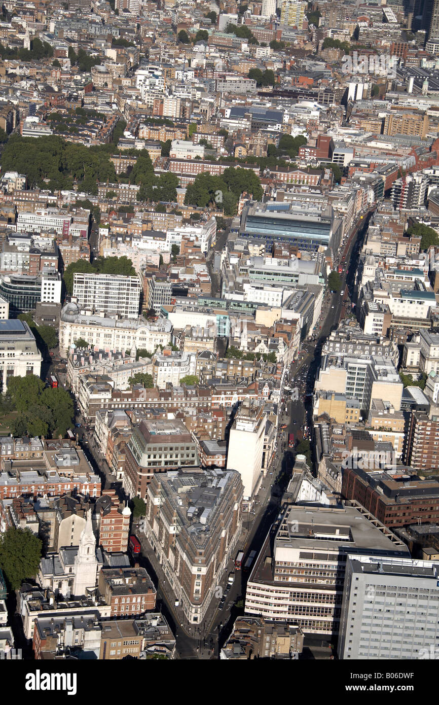 Aerial view north east of High Holborn Bloomsbury Way Clerkenwell London WC2 WC1 England UK - Stock Image
