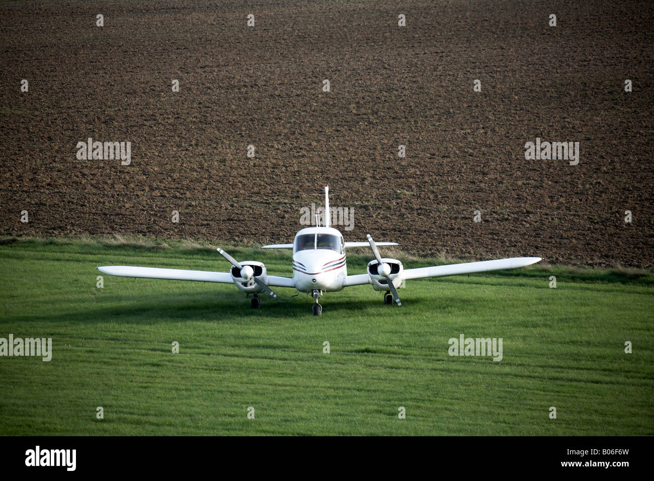 Shot of aeroplane Stapleford Tawney Aerodrome Romford Essex RM4 England UK - Stock Image