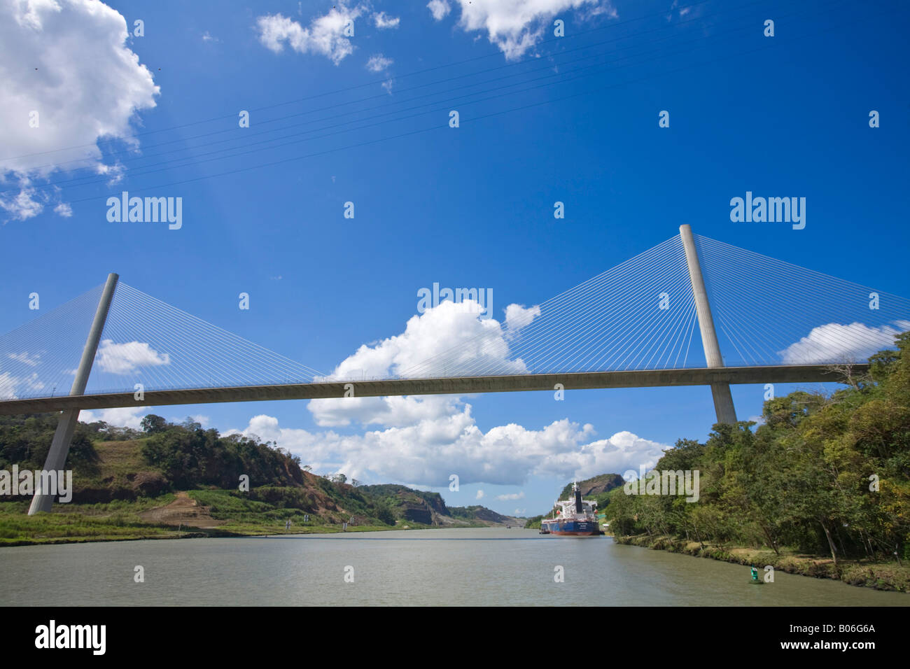 Panama, Centennal bridge spanning the  Panama Canal - Stock Image