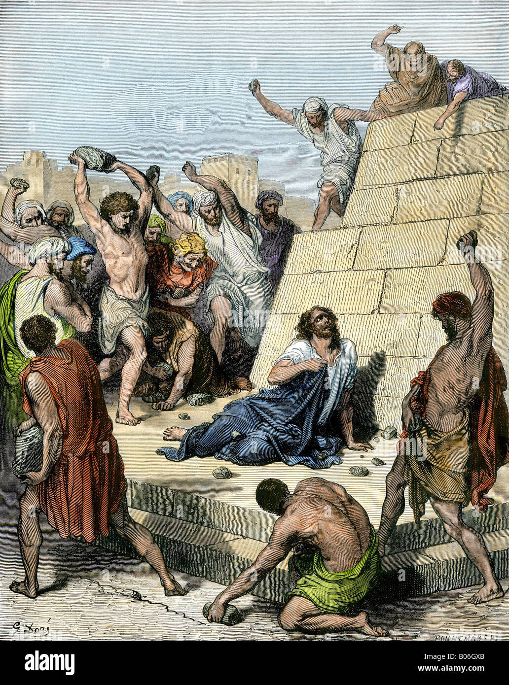 Stephen stoned to death for preaching Christianity in Jerusalem 36 Stock  Photo - Alamy