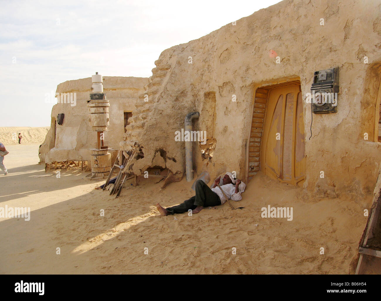 Tunisia Star Wars Movie Set In The Sahara Desert At Ong El Jemel Stock Photo Alamy
