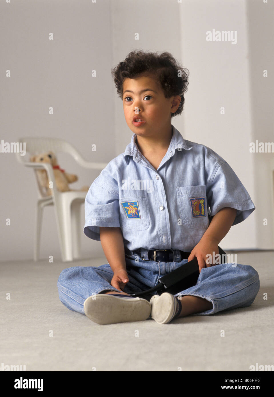 Child with Down syndrom - Stock Image